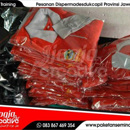 Konveksi Seragam Training Pesanan Dispermadesdukcapil Semarang Provinsi Jawa Tengah