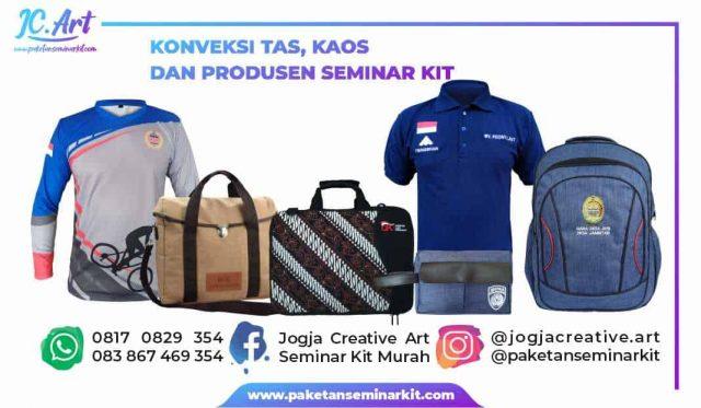 Vendor konveksi tas seminar kit pouch kaos makassar